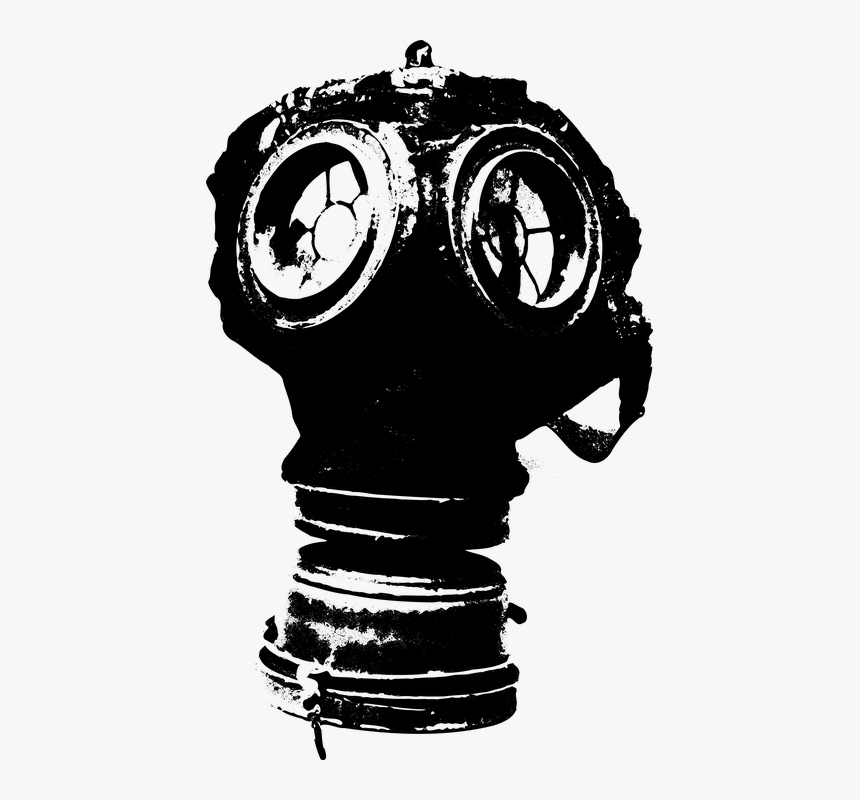 Gas Mask, Mask, Toxic, Gas, Protection, Pollution - Wwi Gas Mask Clipart, HD Png Download, Free Download