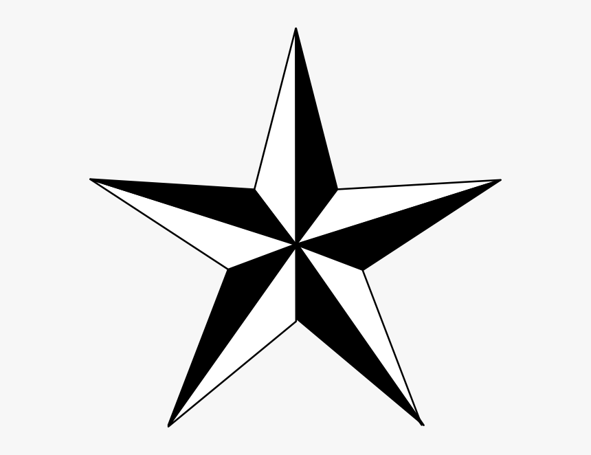 Star Clipart Black And White, HD Png Download, Free Download