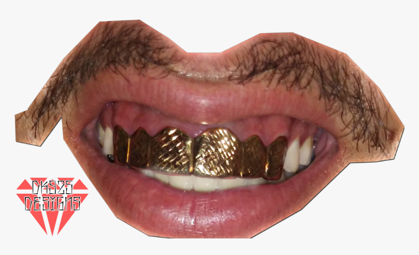 #grill #grillz #gold #teeth #mouth #dk925 #dk925designs - Grillz Mouth Png, Transparent Png, Free Download