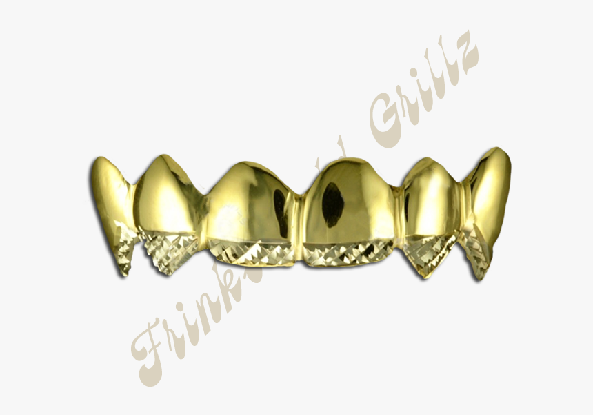 Gold Grillz Png - Golds With Diamond Cut Tips, Transparent Png, Free Download