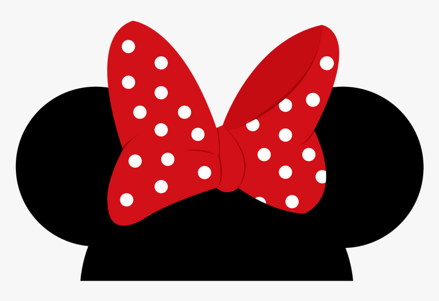 Minnie Mouse Mickey Mouse Ear - Minnie Mouse Ears Transparent, HD Png Download, Free Download