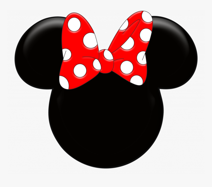 Unique Minnie Mouse Ears Silhouette Clipart Kid Library - Red Minnie Mouse Head, HD Png Download, Free Download