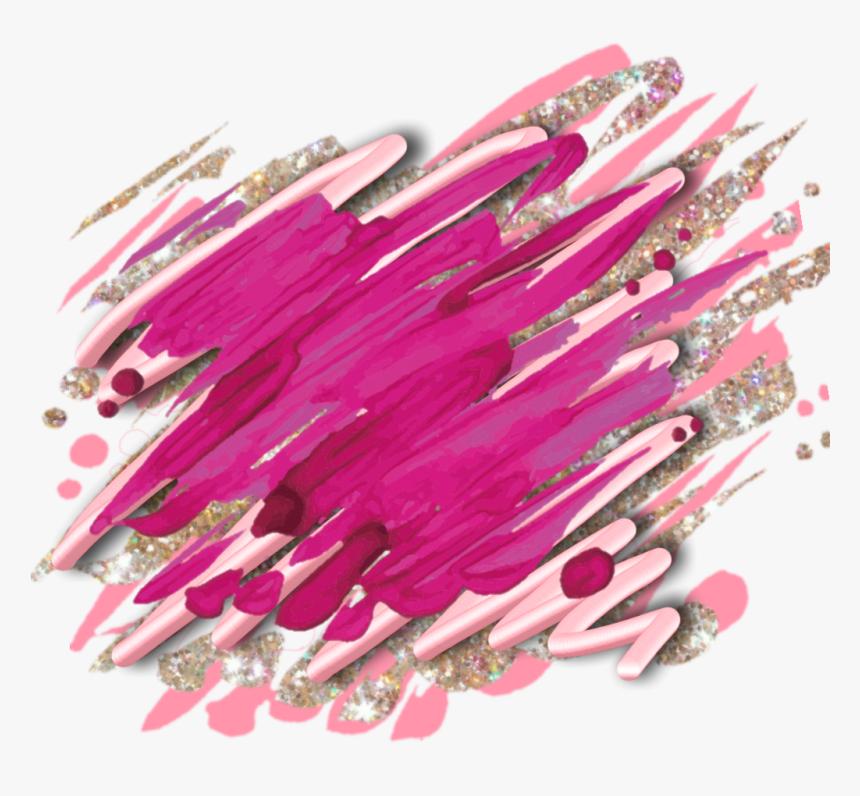 Transparent Paint Smear Png - Pink Paint Brush Smear, Png Download, Free Download