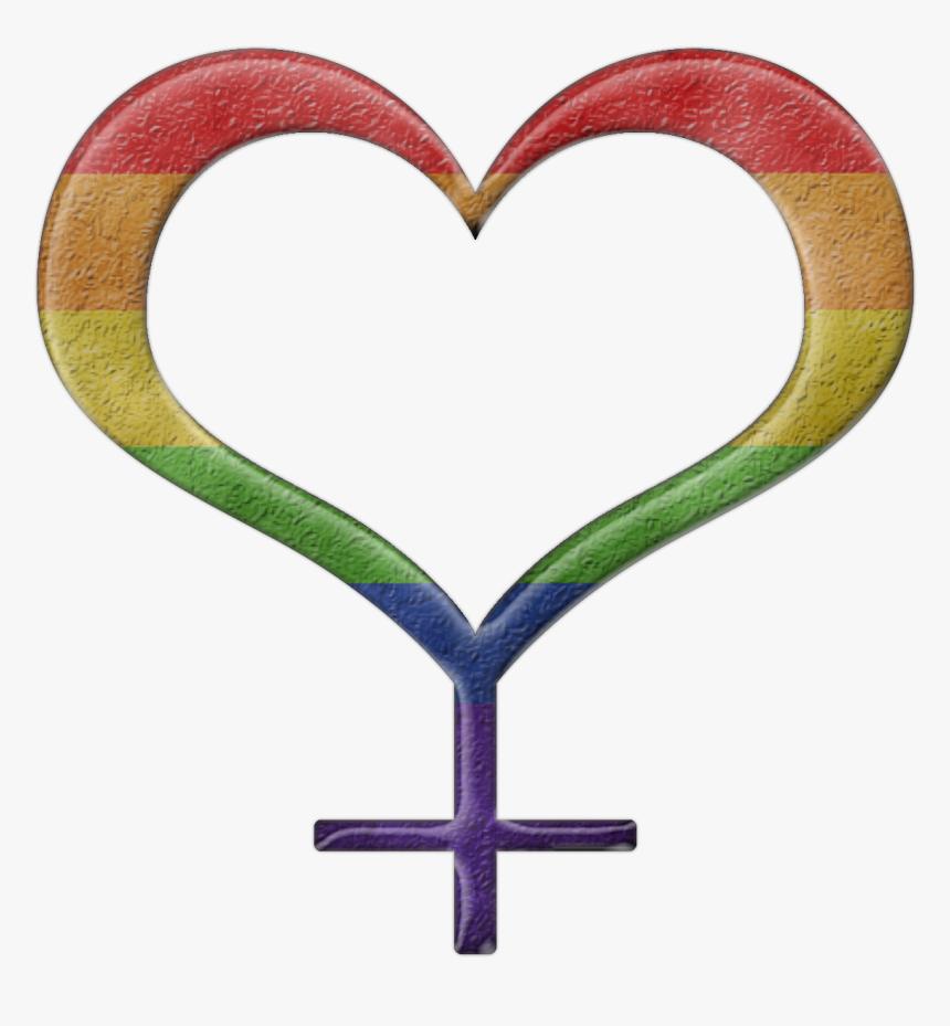 Lesbian Pride Design - Transgender Symbol Heart, HD Png Download, Free Download