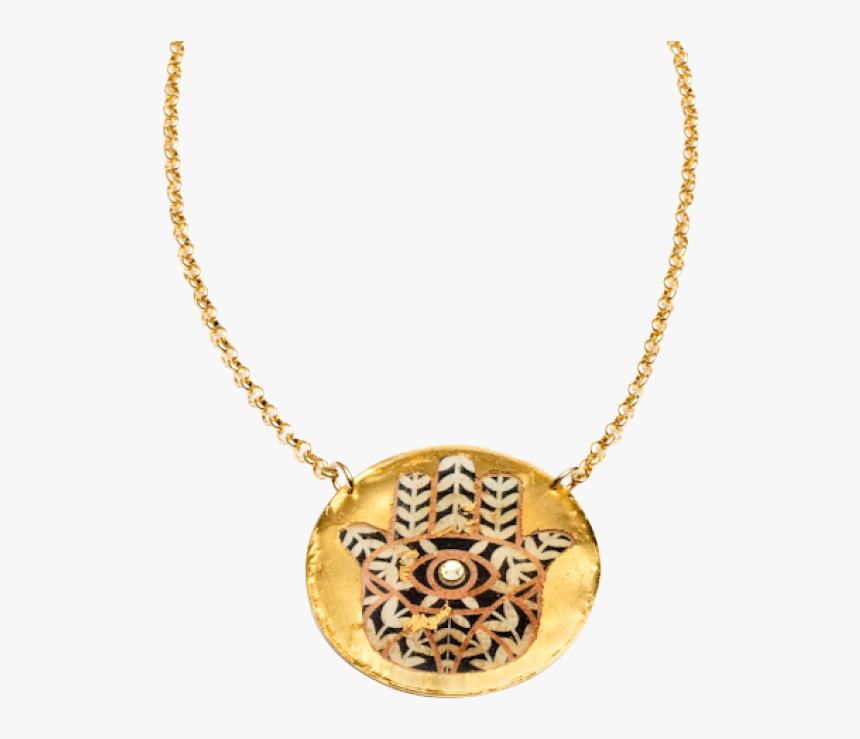 Hamsa Pendant Necklace - Locket, HD Png Download, Free Download
