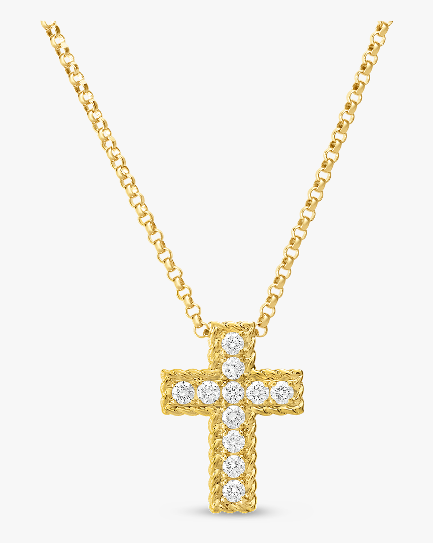 Gold Cross Necklace Transparent, HD Png Download, Free Download