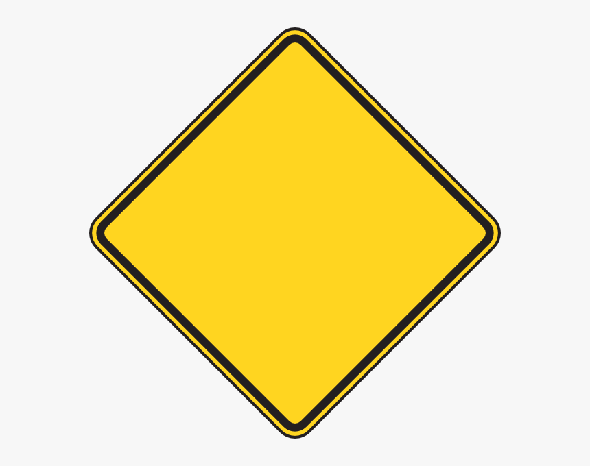 Transparent Ant Clip Art - Yellow Diamond Warning Sign, HD Png Download, Free Download