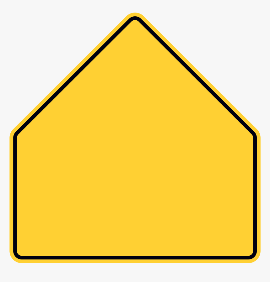 Pentagon Warning Sign - Blank School Zone Sign, HD Png Download, Free Download