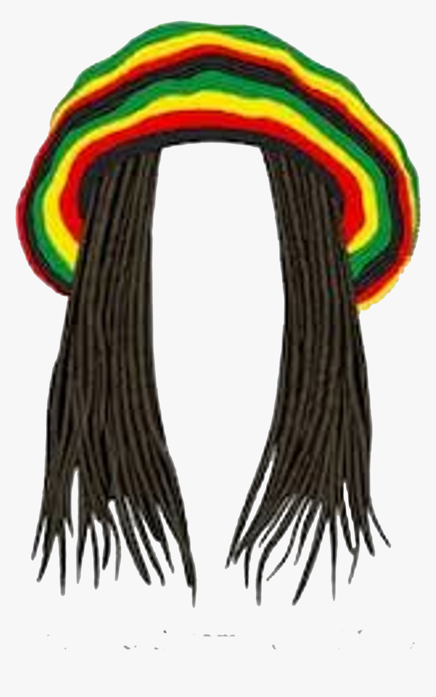 Rasta Hat With Dreads , Png Download - Rasta Clipart, Transparent Png, Free Download