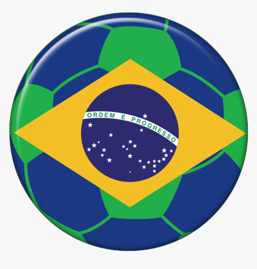Transparent Bola De Futebol Png - Brazil Flag, Png Download, Free Download