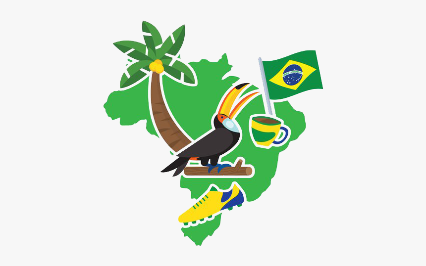 Brazil Vector Banner - Geometric Vector Illustration Giraffe Vector, HD Png Download, Free Download