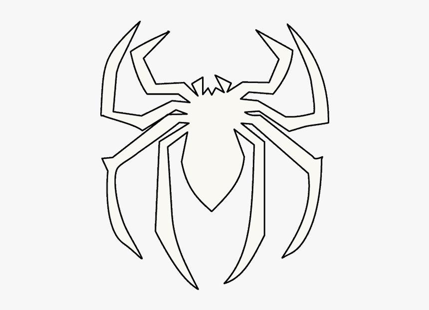 Drawing Web Spiderman Draw A Spiderman Logo Hd Png Download Kindpng