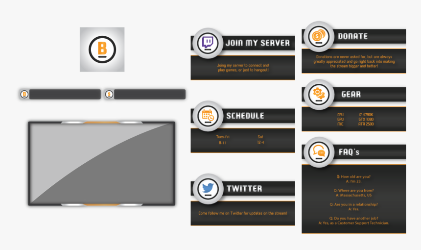 02 Design - Twitch Layout Design, HD Png Download, Free Download