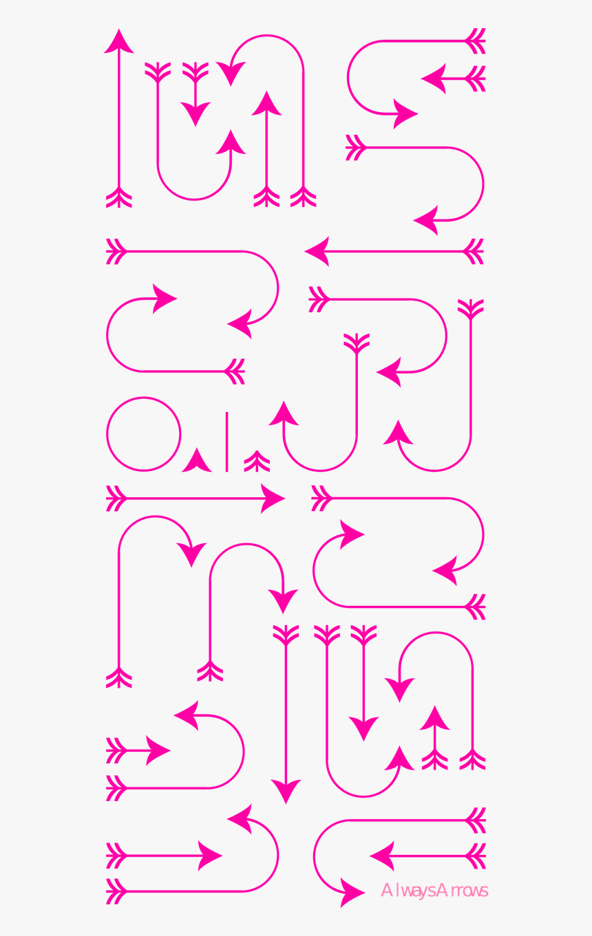 Arrows Girly Pink Free Picture - Portable Network Graphics, HD Png Download, Free Download