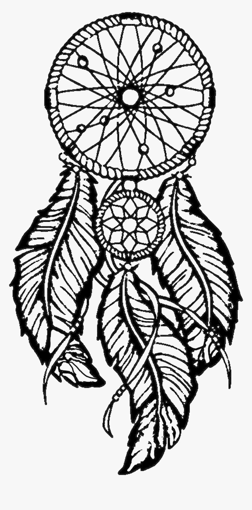 Easy Dream Catcher Coloring Page, HD Png Download, Free Download