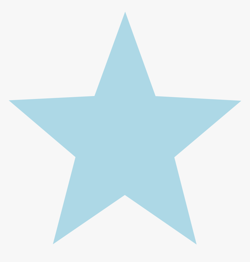 Svg Star Clear Background - Light Blue Star White Background, HD Png Download, Free Download