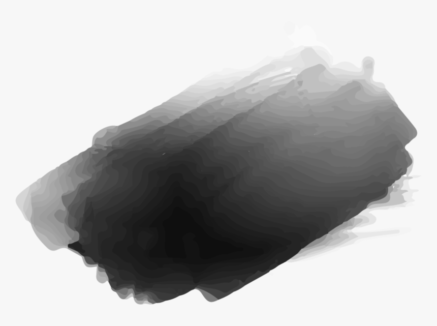 Ftestickers Watercolor Texture Brushstrokes Black Gray - Black Water Color Transparent Background, HD Png Download, Free Download