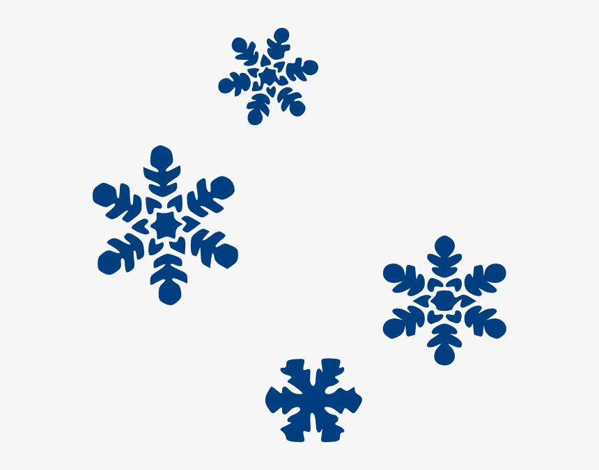 Blue Snow Flakes Png, Svg Clip Art For Web - Snowflake Clipart, Transparent Png, Free Download