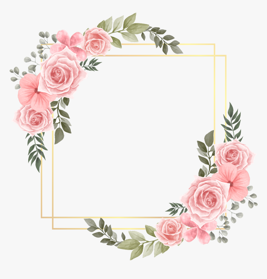 #rose #square #flower #floral #frame #gold #glitter - Message Happy Teachers Day, HD Png Download, Free Download