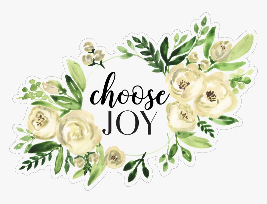 Choose Joy Floral Frame Print & Cut File - Joy Floral, HD Png Download, Free Download