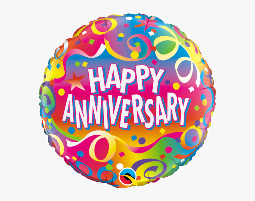 Anniversary Confetti Balloon Transparent Background Happy Anniversary Png Png Download Kindpng