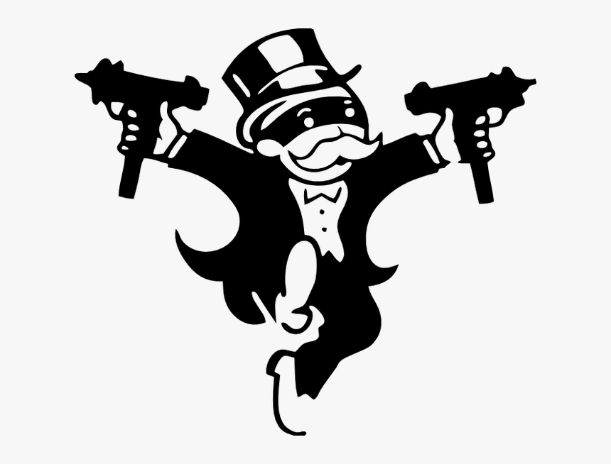 Monopoly Man With Uzi Clipart , Png Download, Transparent Png, Free Download