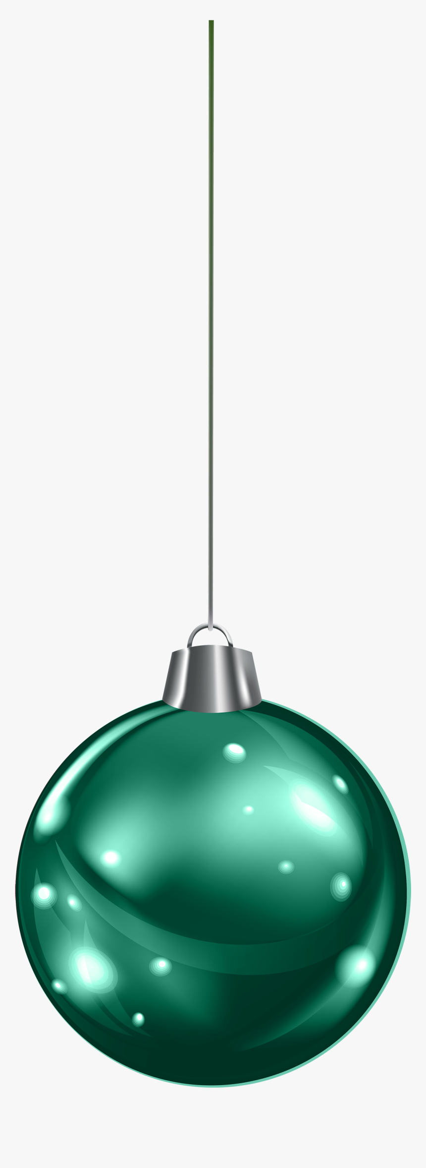 Hanging Green Christmas Ball Png Clipart - Green Hanging Christmas Ornament, Transparent Png, Free Download