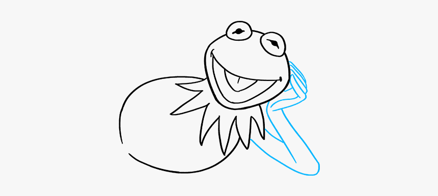 How To Draw Kermit The Frog - Draw A Small Kermit, HD Png Download, Free Download