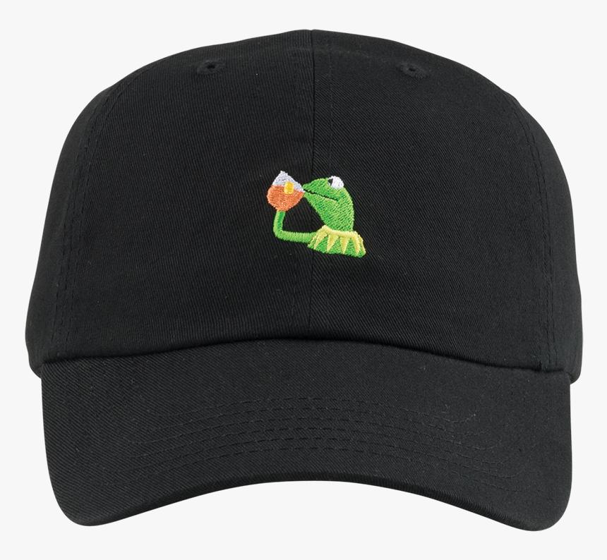 Kermit Sipping Tea Png - Baseball Cap, Transparent Png, Free Download