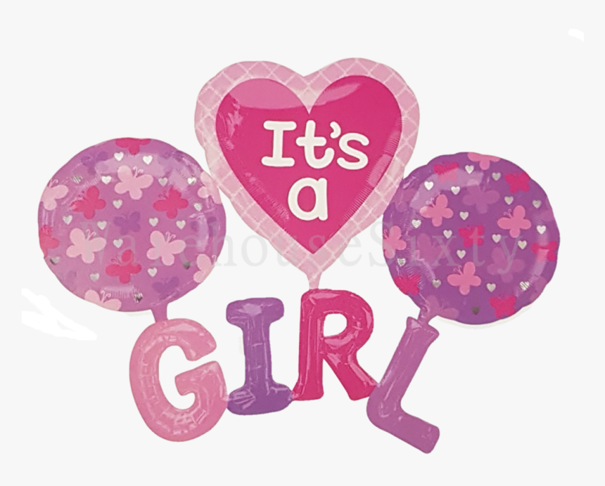 Transparent Baby Shower Border Clipart It S A Girl Balloon Hd Png Download Kindpng