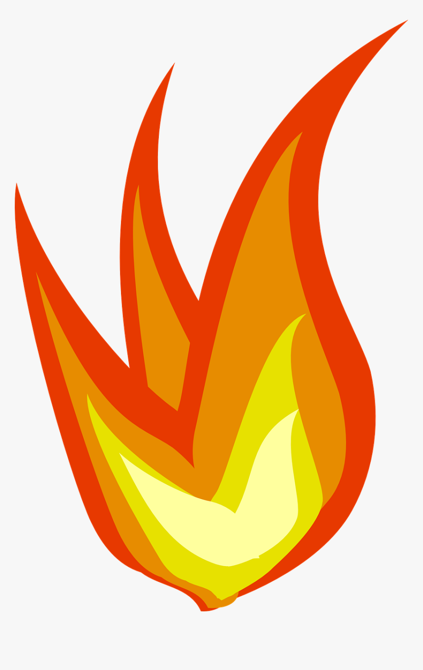 Fire Flames Clipart Heat - Cartoon Transparent Fire Gif, HD Png Download, Free Download