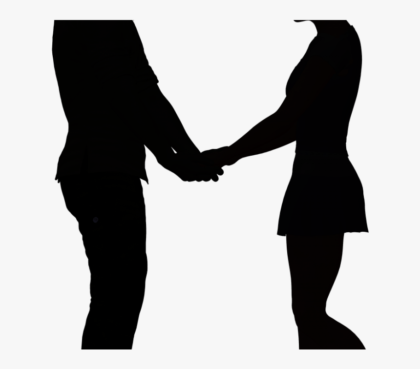 Transparent Couple Holding Hands Png - Boy And Girl Holding Hands Silhouette, Png Download, Free Download