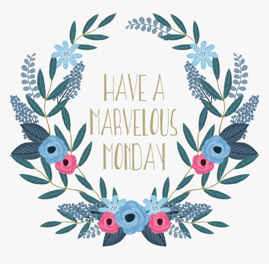 Marvelous Monday Floral Wreath - Start Each Day With A Positive Thought, HD Png Download, Free Download