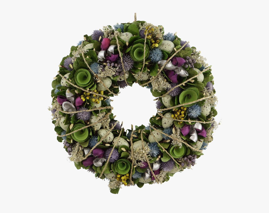 Egg & Floral Wreath With Rope, HD Png Download, Free Download