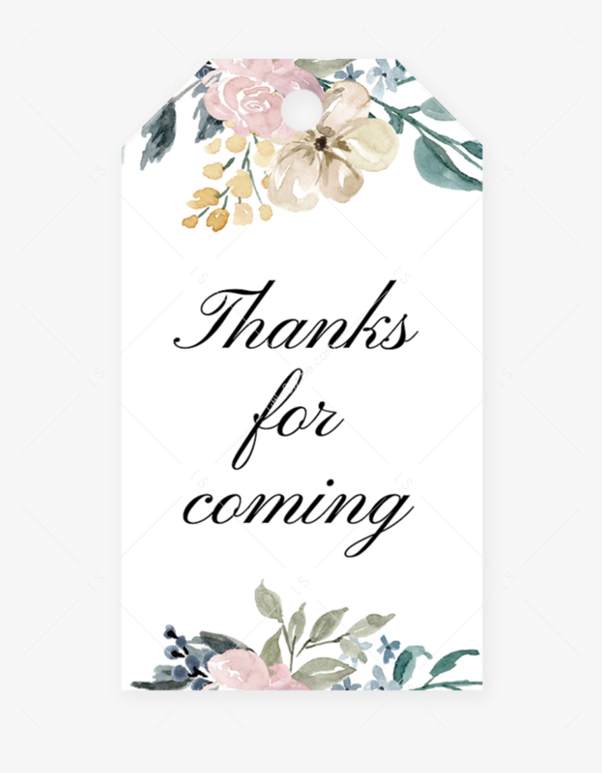 Editable Favor Tag Template For Whimsical Shower By - Editable Thank You Tag Template, HD Png Download, Free Download