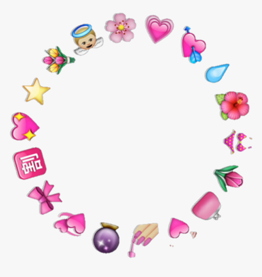 Icon Angel Flower Hearts Cute Kawaii Kpop Fofo Flor - Heart Emoji Circle Png, Transparent Png, Free Download