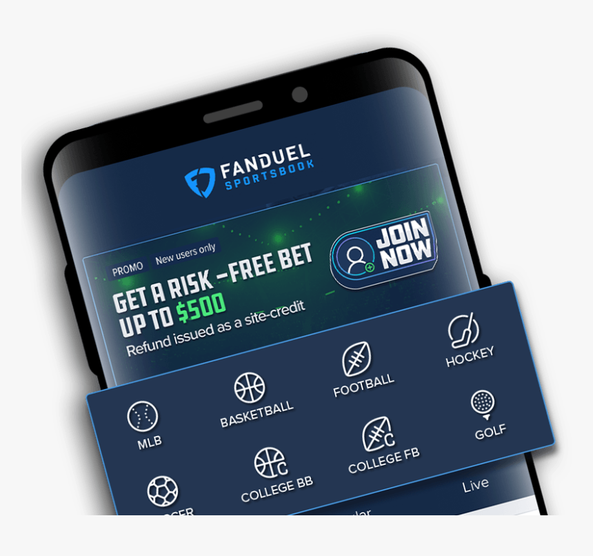 Fanduel App On Mobile Phone - Smartphone, HD Png Download, Free Download