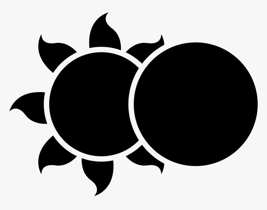 Eclipse - Moon And Sun Vector, HD Png Download, Free Download