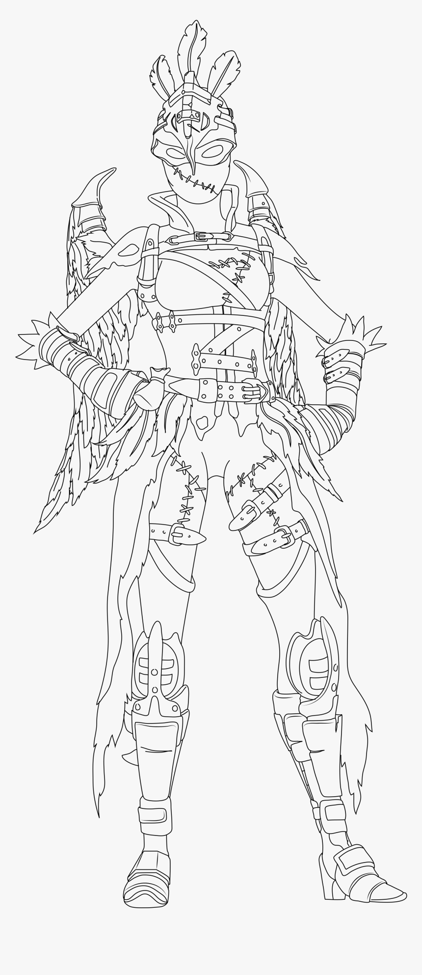 Fortnite Coloring Pages Ravage, HD Png Download, Free Download