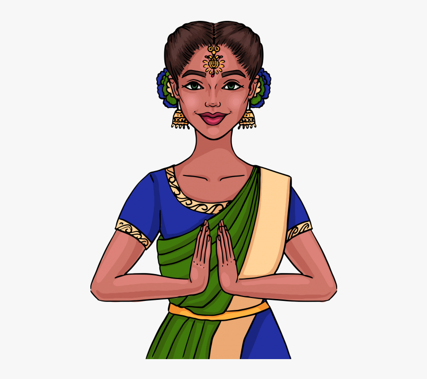 Indian Girl Clipart Png Image Free Download Searchpng - Indian Woman Clipart Png, Transparent Png, Free Download