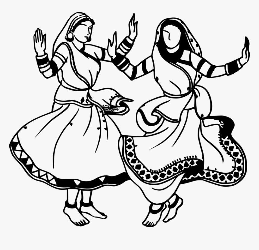 Transparent Dancing Girl Png Dancing Girls Clipart Black And White Png Download Kindpng