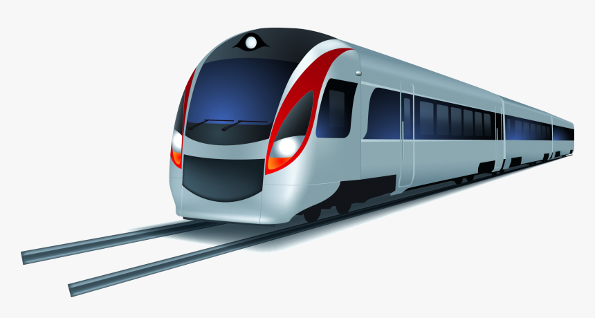 Train Transit Rapid Cartoon Hq Image Free Png Clipart - Modern Train Clipart, Transparent Png, Free Download