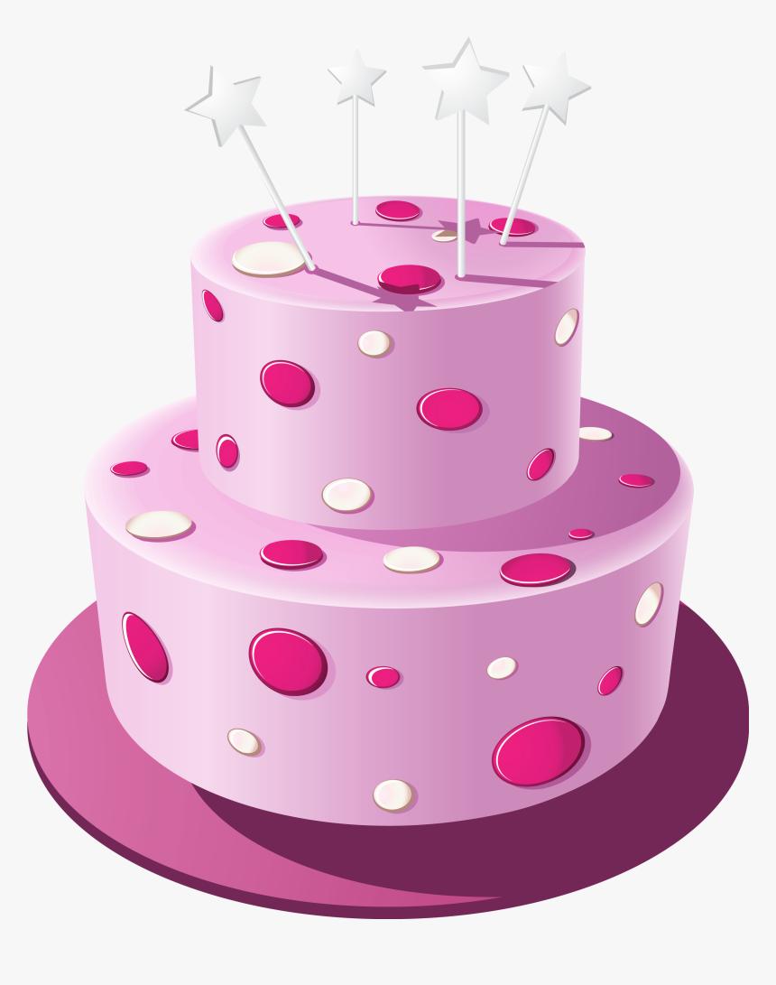 Pink Cake Png - Transparent Birthday Cake Png Pink, Png Download, Free Download