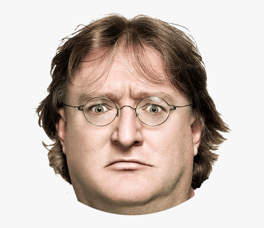 Gaben Serious Stare - Gabe Newell, HD Png Download, Free Download
