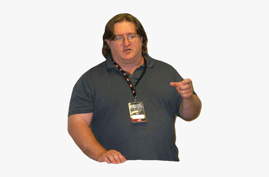 Gabe Newell Pointing - Gabe Newell Full Body, HD Png Download, Free Download