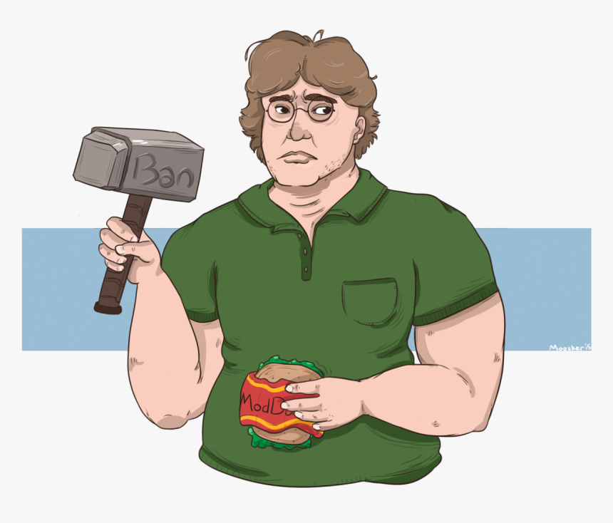 Transparent Gabe Newell Png - Дали Вак, Png Download, Free Download