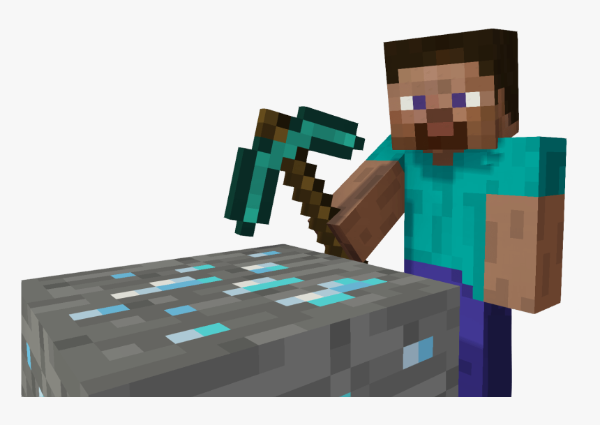Download Steve Mines A Minecraft Steve With Pickaxe Hd Png