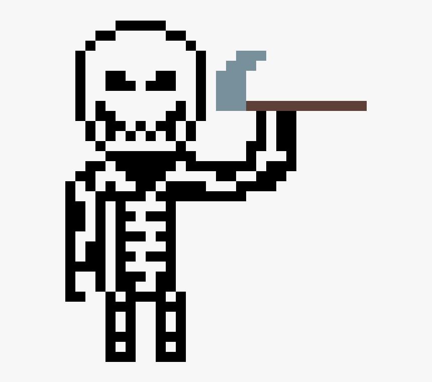 Skull Trooper Pixel Art , Png Download - Pixel Art Mario Bros Boo, Transparent Png, Free Download