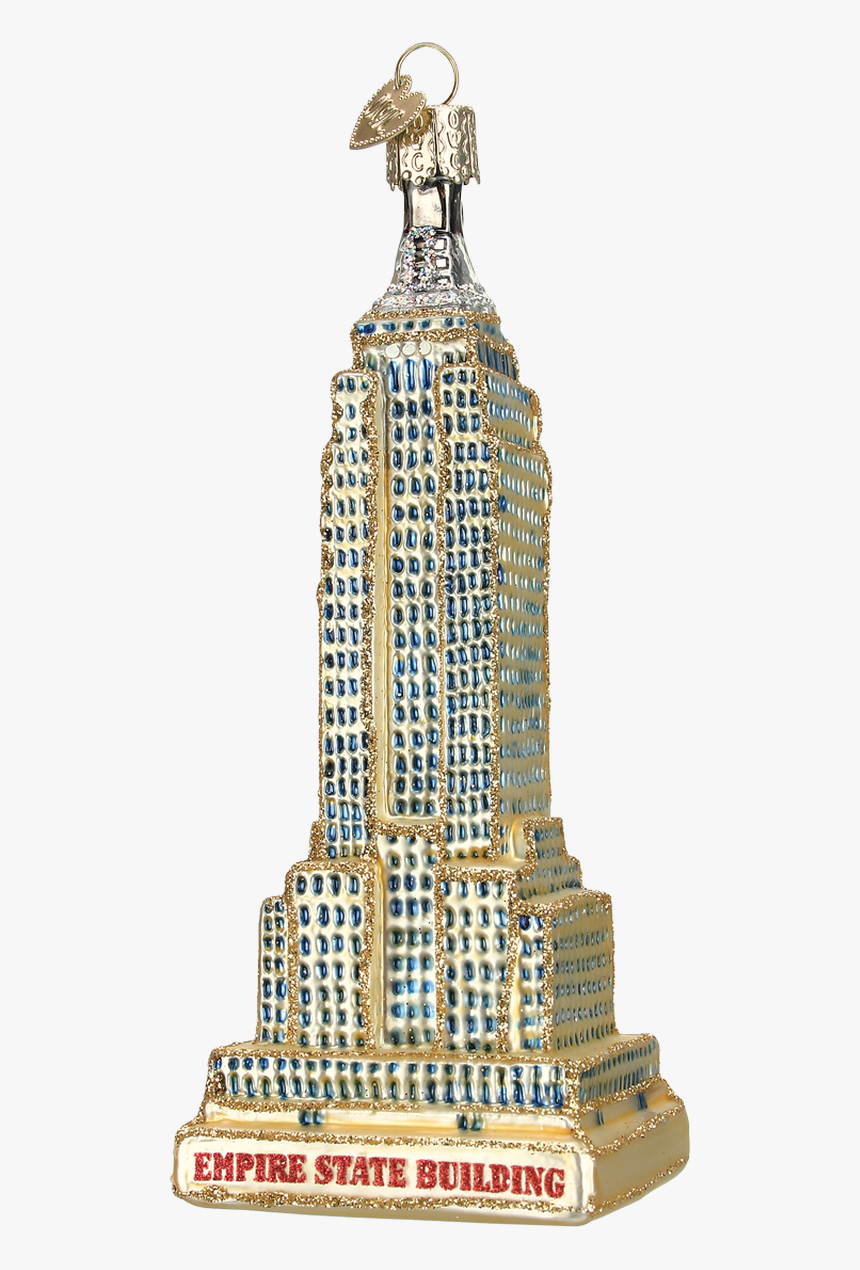 Gold Empire State Building Glass Ornament - Empire State Building, HD Png Download, Free Download