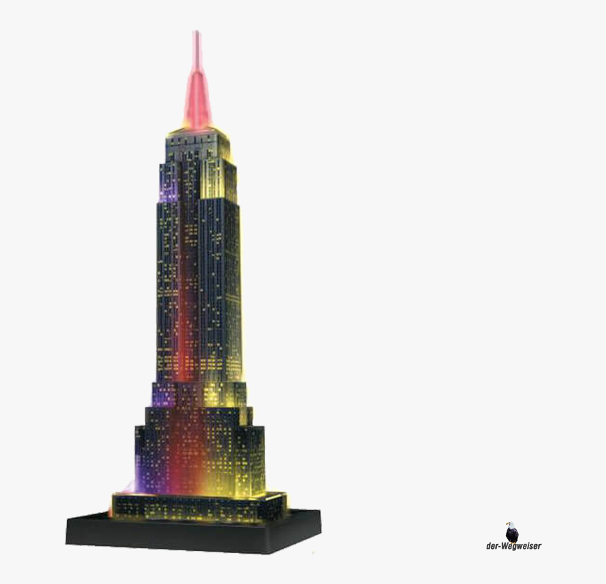 3d-puzzle Empire State Building Bei Nacht - Puzz 3d Empire State Building Glow, HD Png Download, Free Download